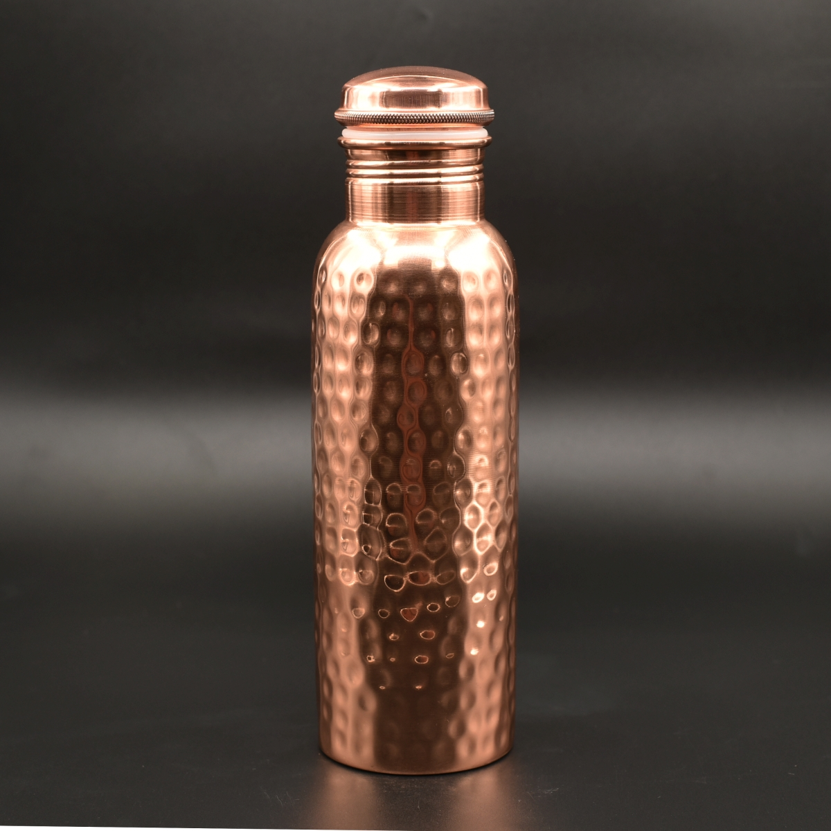 Copper Water Bottle - Hammered finish