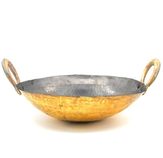 Brass Kadai - with tin lining