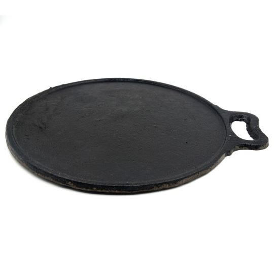 Seasoned Cast Iron Flat Dosa Tawa - 12 inches