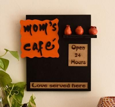 Wooden Moms Cafe Wall Hanging Indian Home Decor