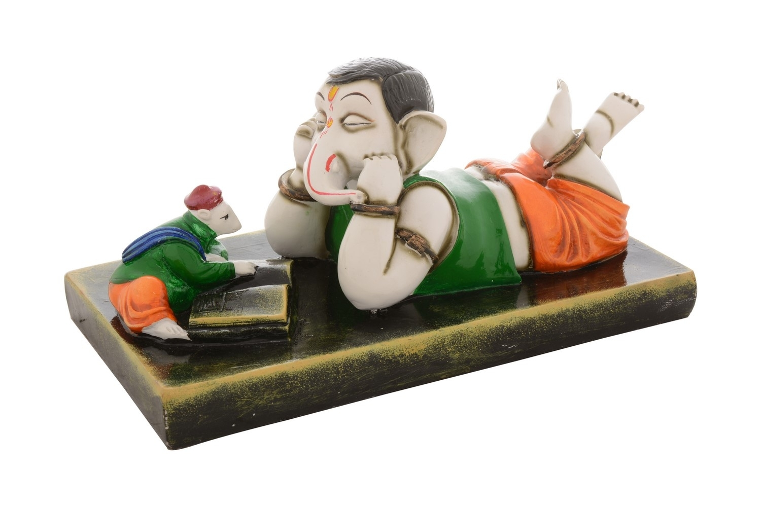 Premium Figurine of Lord Ganesha in Listening Mode Indian Home Decor