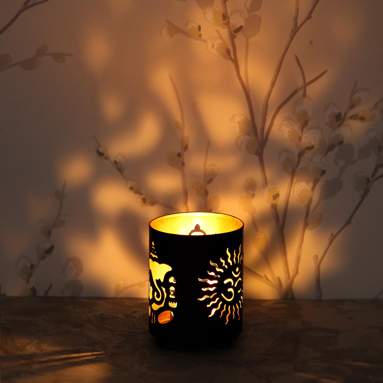 OM Design Tea Light Holder Indian Home Decor