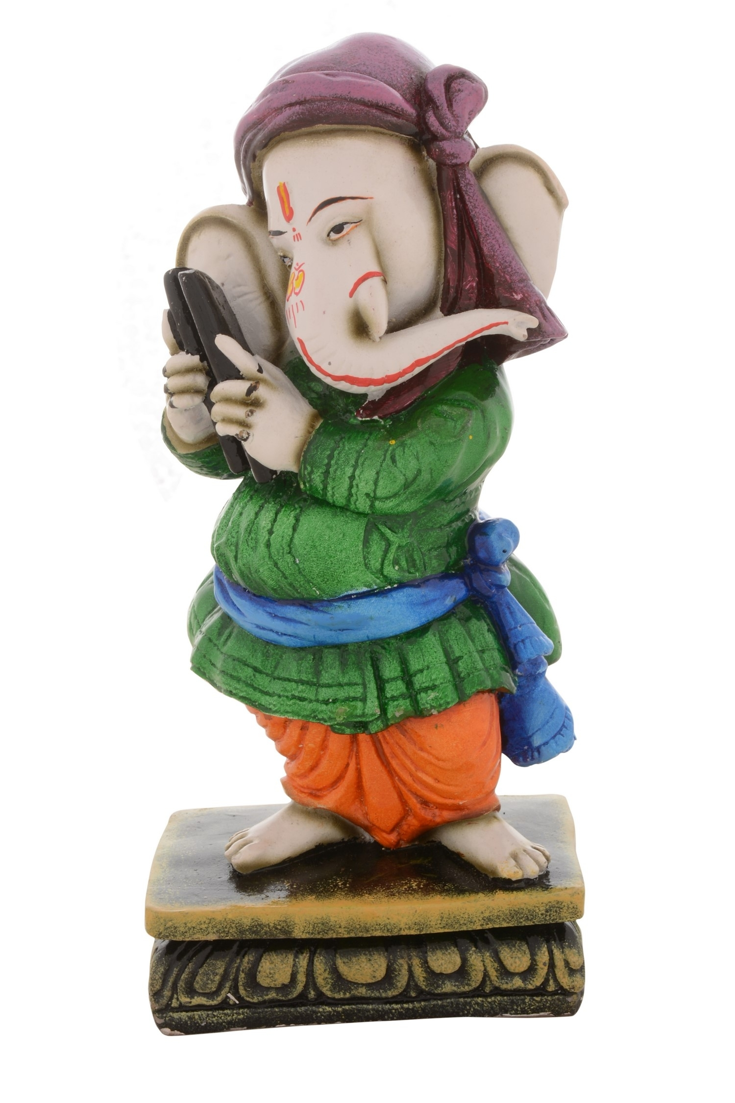 Premium Figurine of Lord Ganesha playing Musical Instrument Indian Home Decor