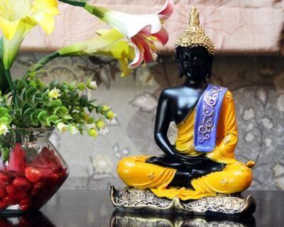 Handcrafted Meditating Decorative Buddha Indian Home Decor