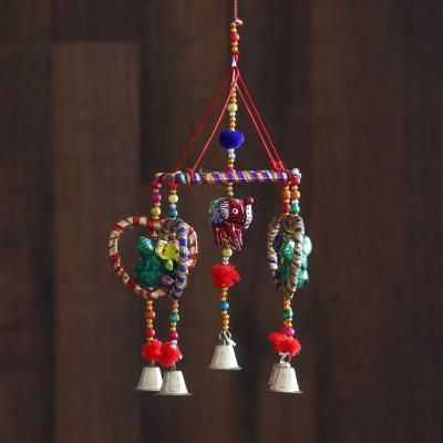 Handcrafted Decorative Lord Ganesha Wall/Door/Window Hanging Bell Indian Home Decor