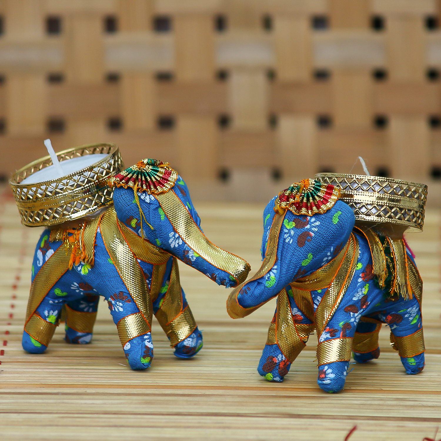 Elephant Design Handcrafted Tea Light Holder Indian Home Decor