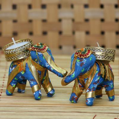Elephant Design Handcrafted Tea Light Holder Indian Home Decor