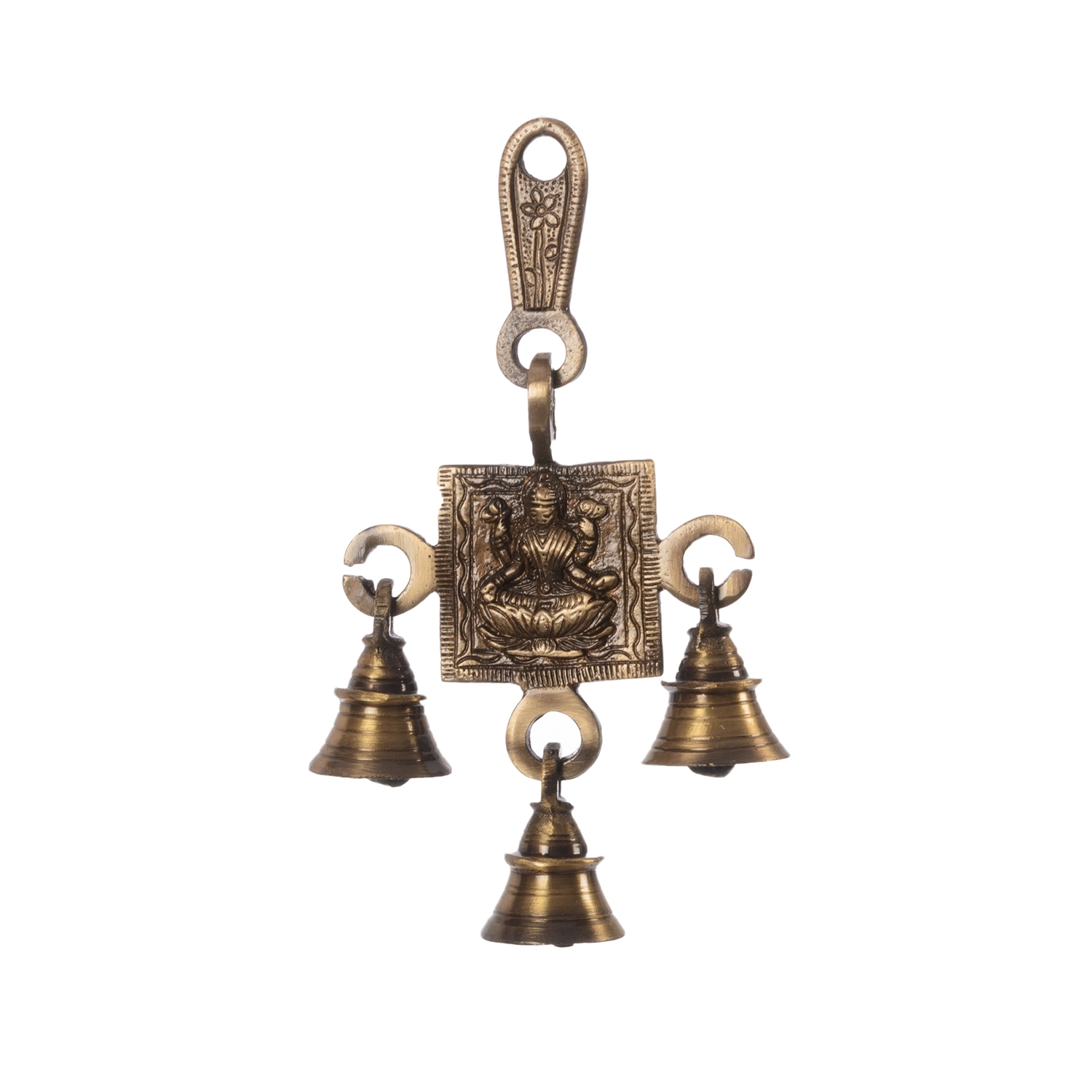 Goddess Laxmi Brass Hanging Bells Indian Home Decor