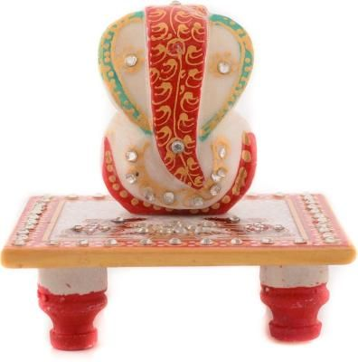 Lord Ganesha on Chowki with Rats Indian Home Decor