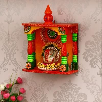 Papier Mache and Wooden Handcrafted Temple Indian Home Decor