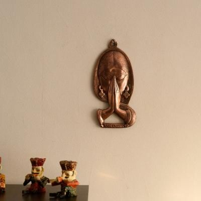 Welcome Lady Metal Wall Hanging Indian Home Decor