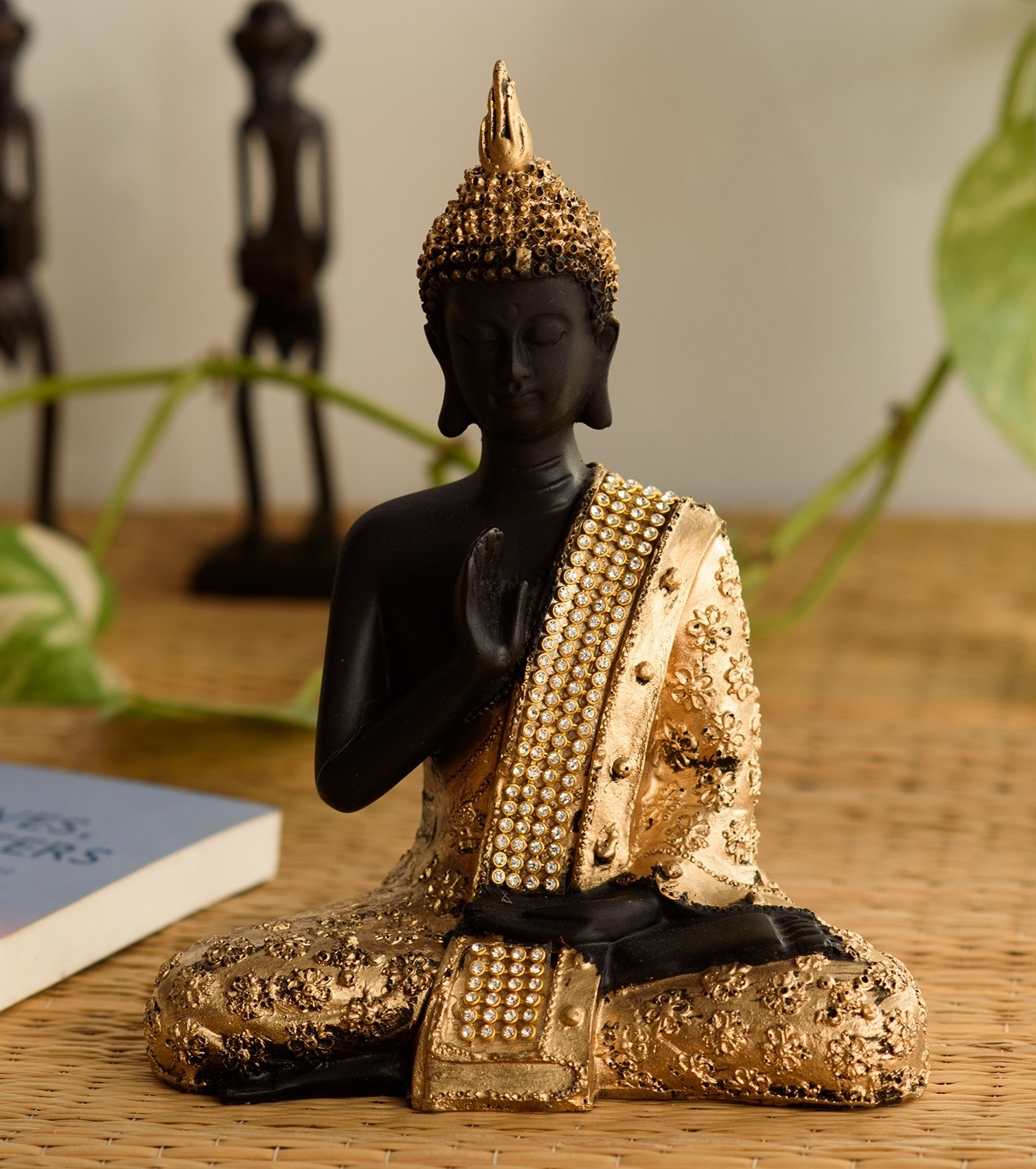 Handcrafted Meditating Blessing Buddha Indian Home Decor