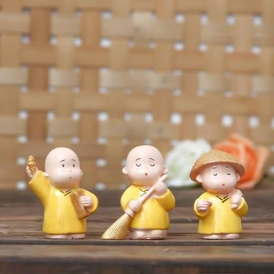Set Of 3 Monk Babies In Different Avatars Indian Home Decor