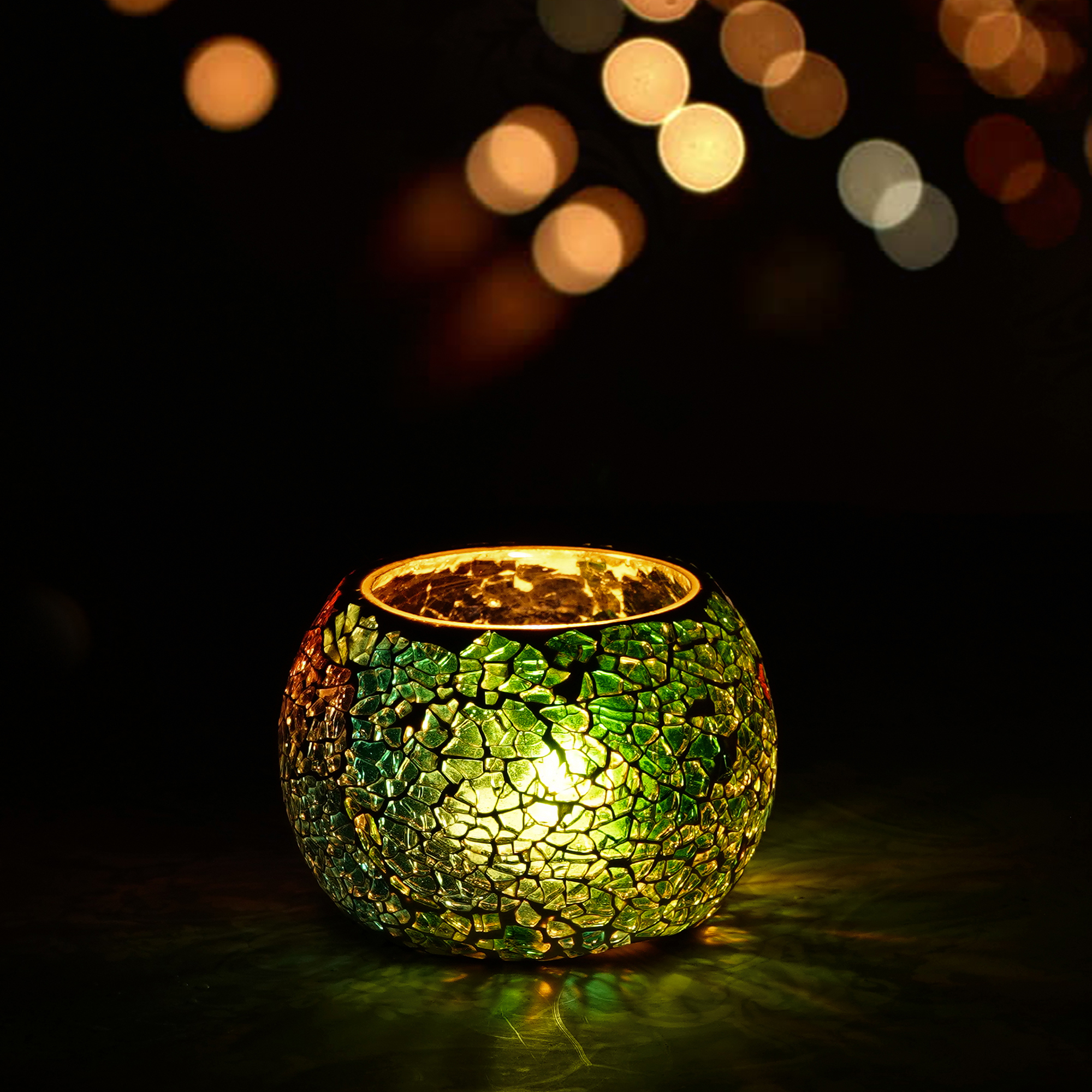 Mosiac Glass Decorative Tea Light Holder/Diya  Indian Home Decor