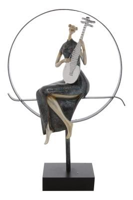 Premium Figurine of Women playing Musical Instrument Indian Home Decor