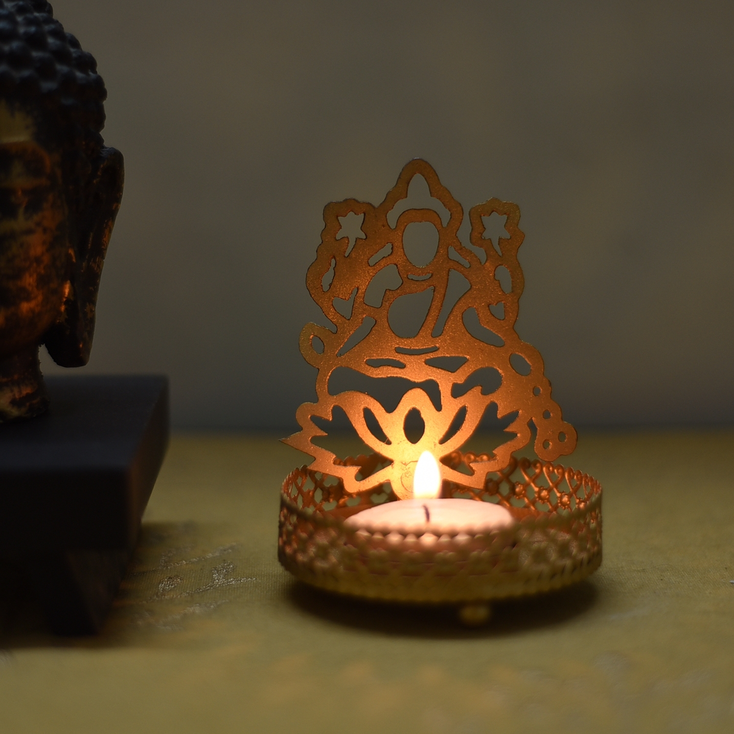 Goddess Laxmi Tea Light Holder Indian Home Decor