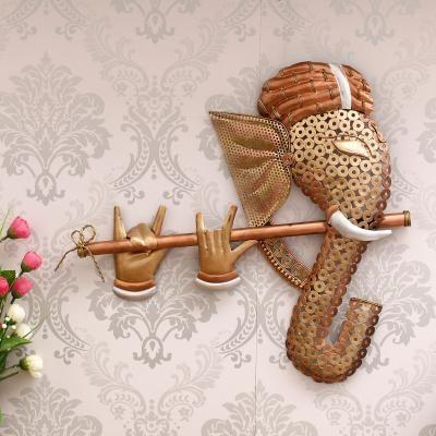 Handcrafted Golden Bansuri Ganesha Decorative Iron Wall Hanging Indian Home Decor