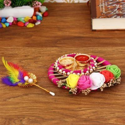 Handcrafted Decorative Roli Tikka Holder with designer stick Indian Home Decor