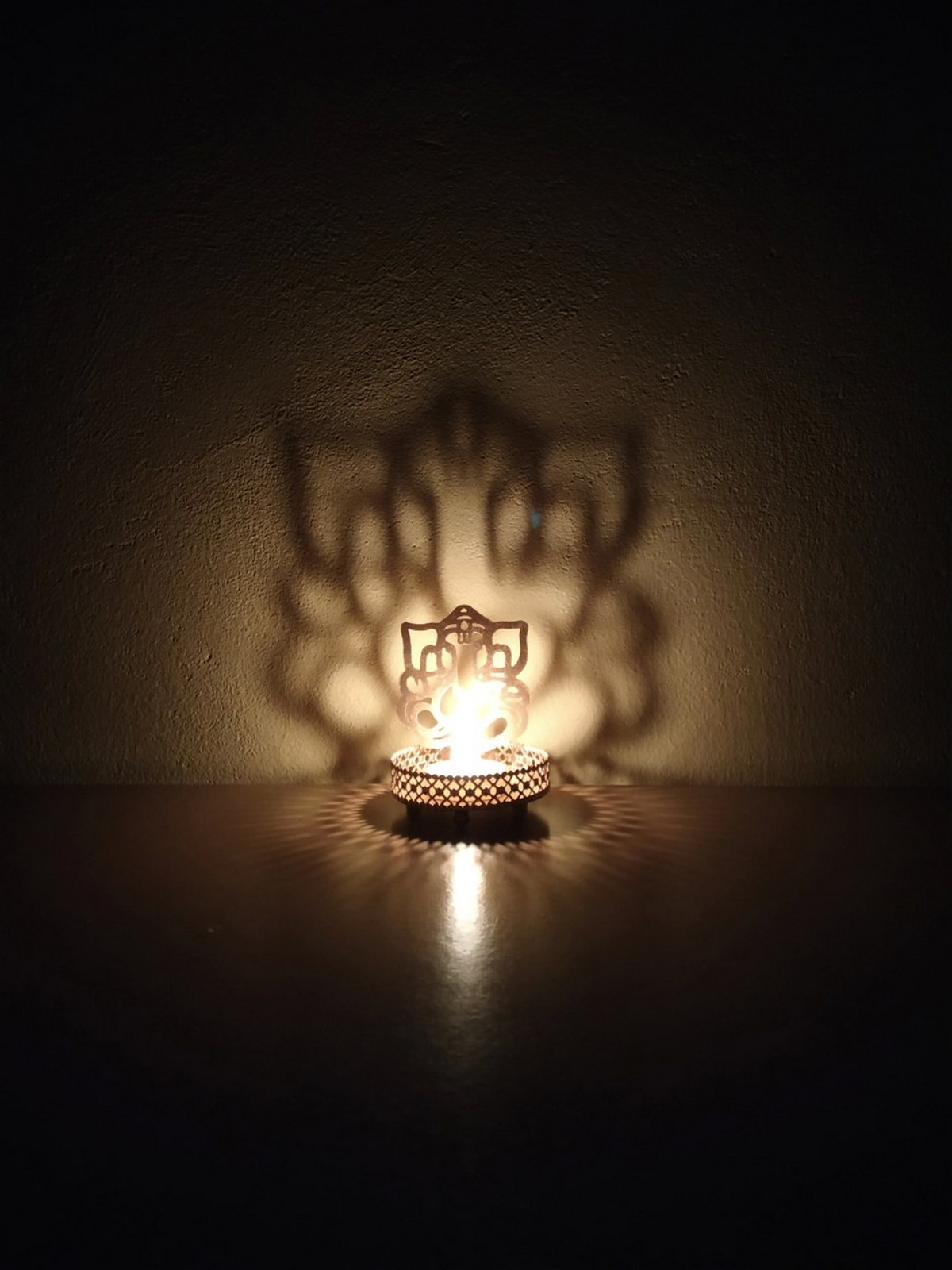 Lord Ganesha Tea Light Holder Indian Home Decor