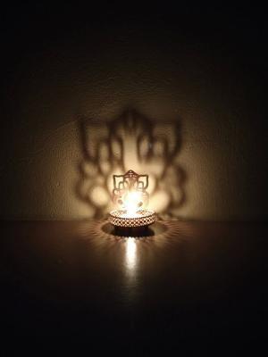 Lord Ganesha Tea Light Holder Indian Home Decor