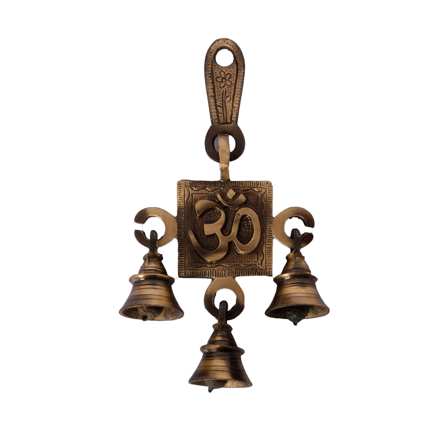 Om Brass Hanging Bells Indian Home Decor