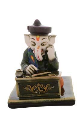 Premium Figurine of Munim Lord Ganesha Indian Home Decor