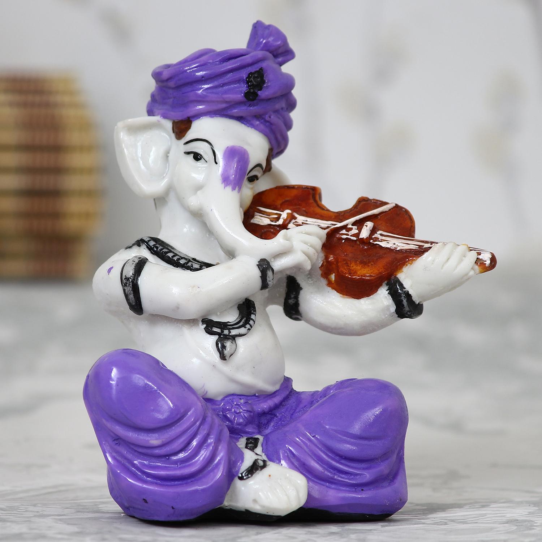 Lord Ganesha playing Violin Indian Home Decor