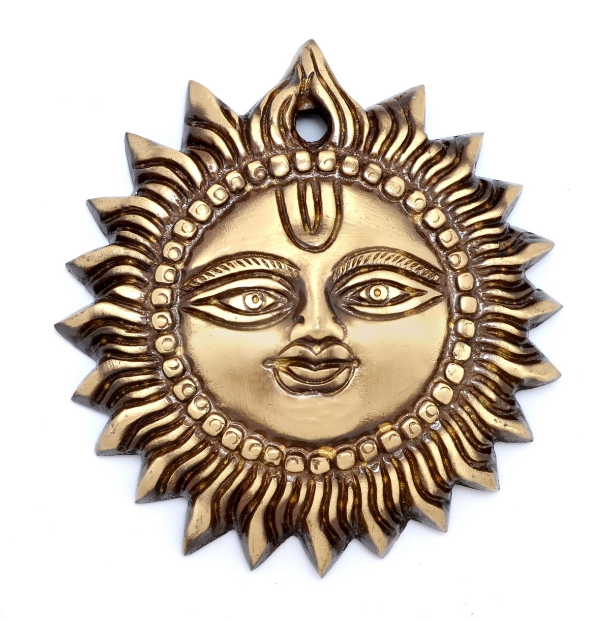 Brass Smiling Surya Wall Hanging Indian Home Decor
