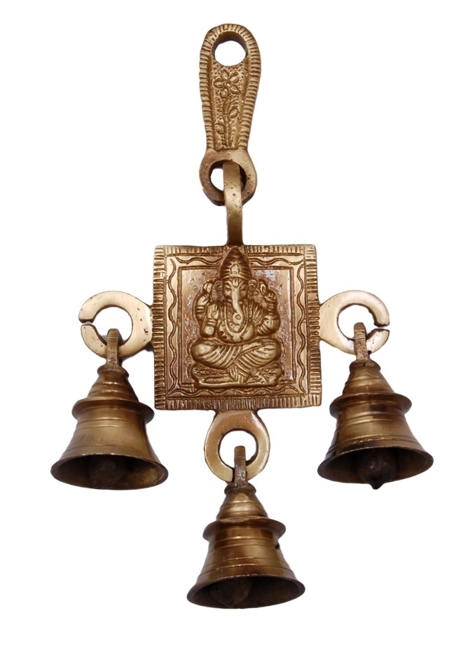 Brass Lord Ganesha Bells Indian Home Decor