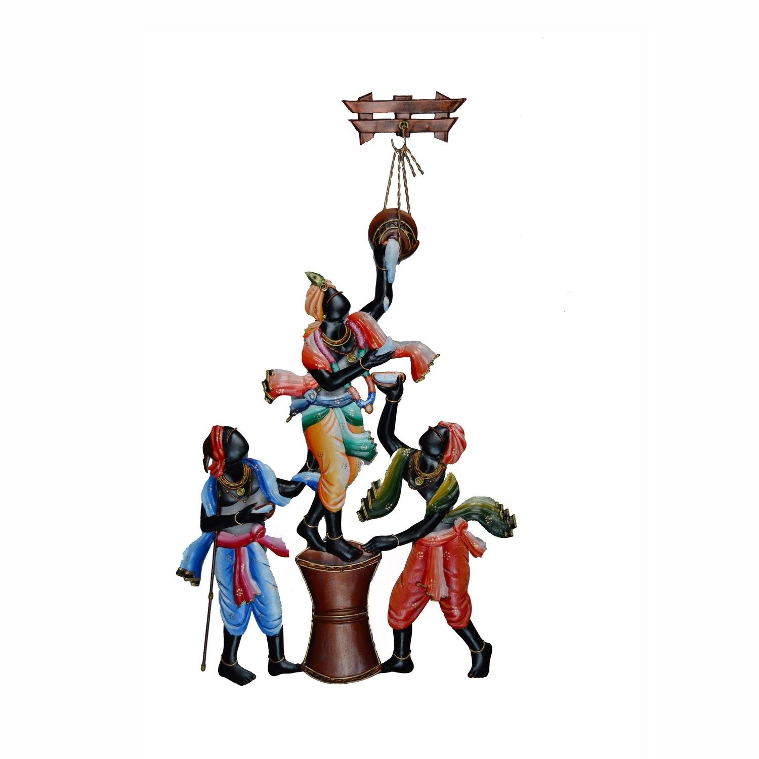 Wall Hanging of Makhan Chor with Friends Indian Home Decor