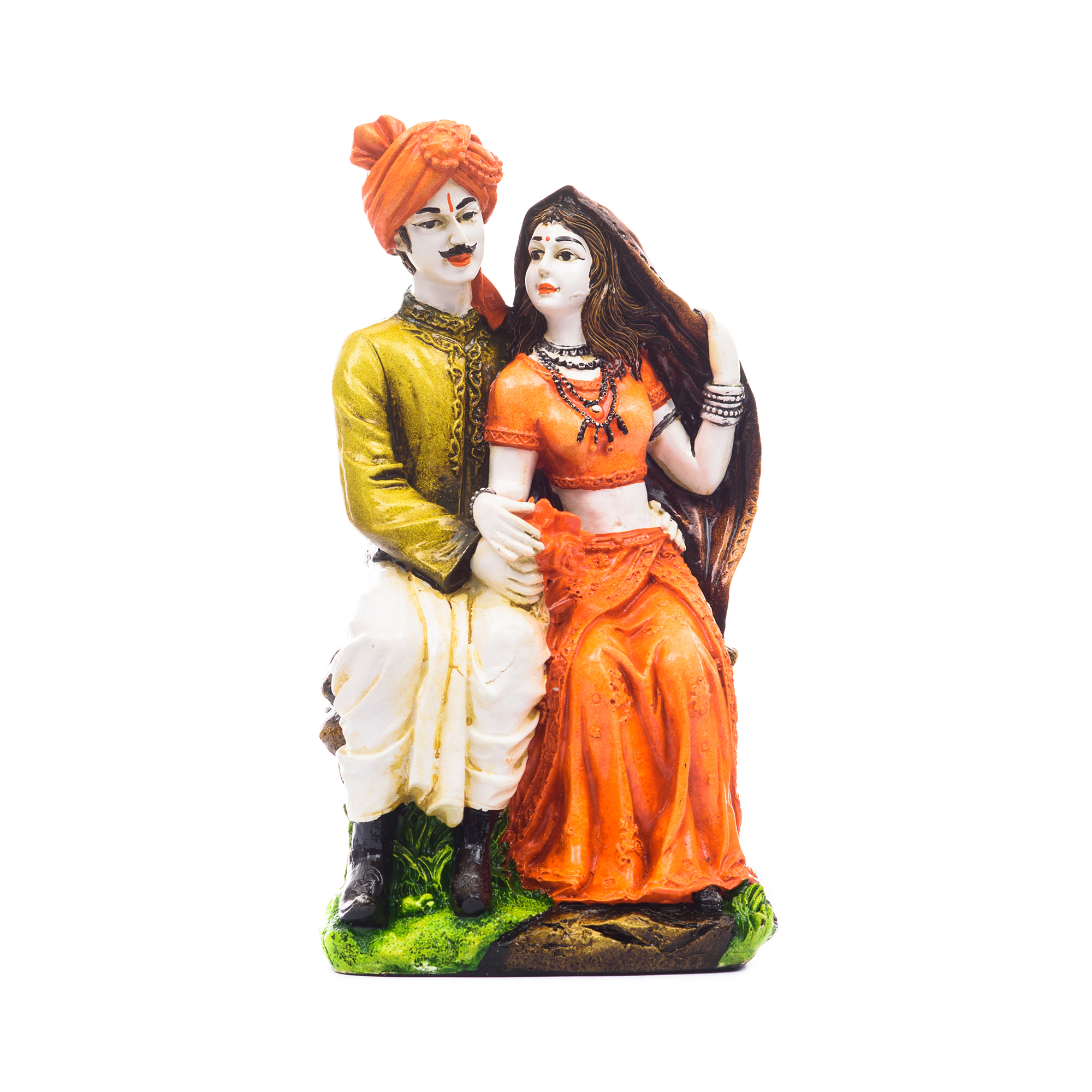 Handicraft Showpiece Home Decor Rajasthani Man and Women Statue Decorative Gift Indian Home Decor