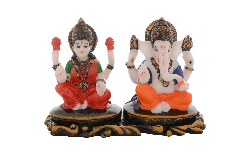 Premium Figurine of Goddess Laxmi and Lord Ganesha Indian Home Decor