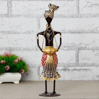 Tribal Man Playing Musical Instrument Banjo Decorative Showpiece Indian Home Decor