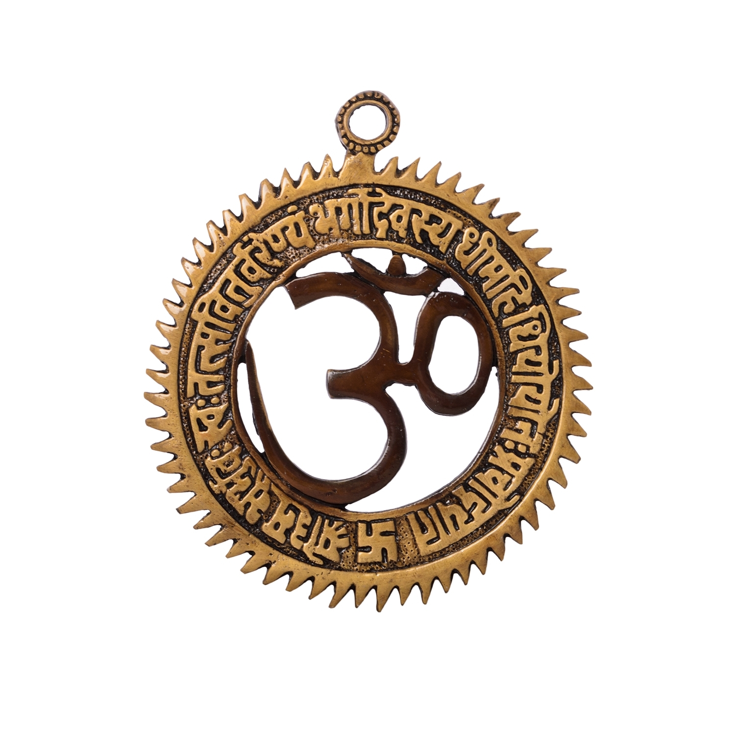 Om wall hanging with Gayatri Mantra Brass Decorative Indian Home Decor