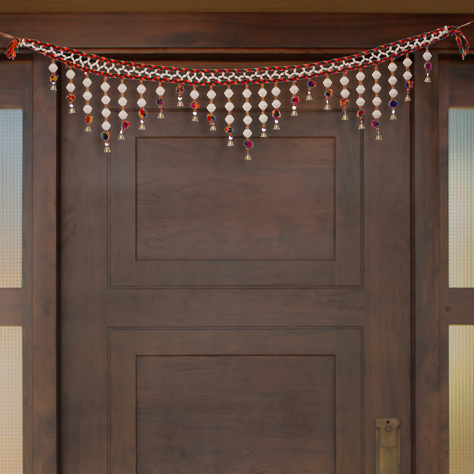Decorative Colorful Bandarwal/Toran Door Hanging  with Shells Indian Home Decor
