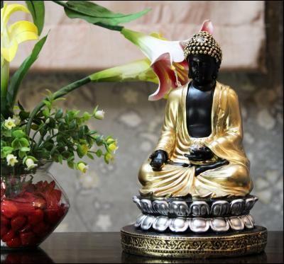 Handcrafted Meditating Buddha Figurine Indian Home Decor