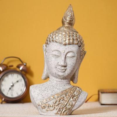 Decorative Buddha Polyresin Showpiece Indian Home Decor