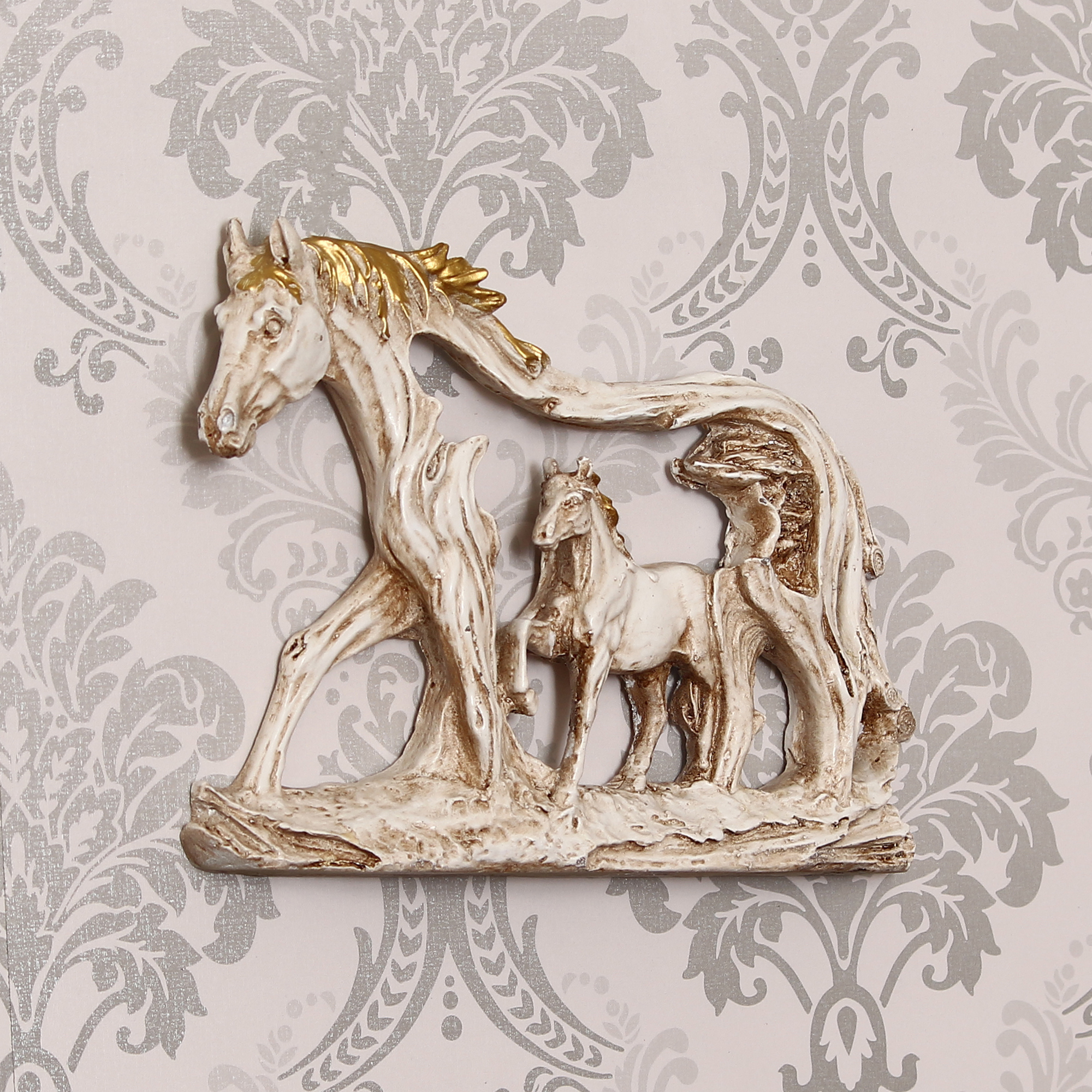 Decorative Walking Horses Polyresin Wall Hanging Showpiece Indian Home Decor
