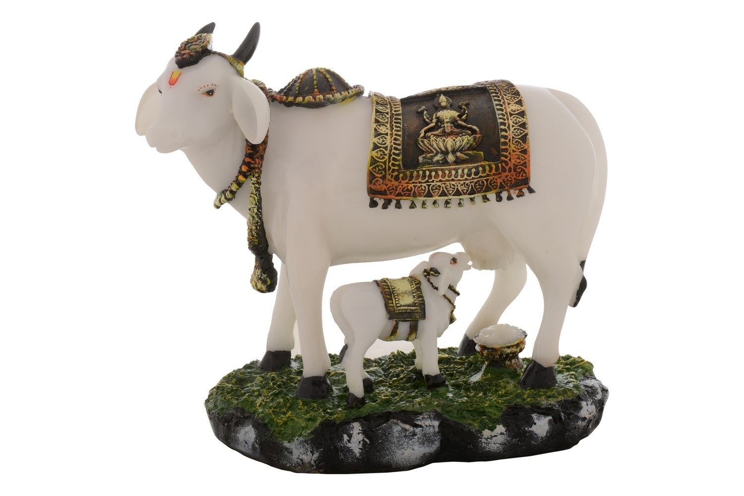 Religious Cow and Calf Figurine Indian Home Decor