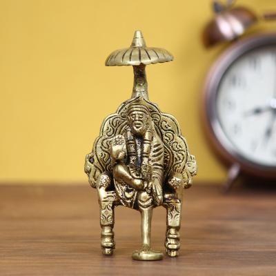 Sai Baba Brass Idol Statue Indian Home Decor