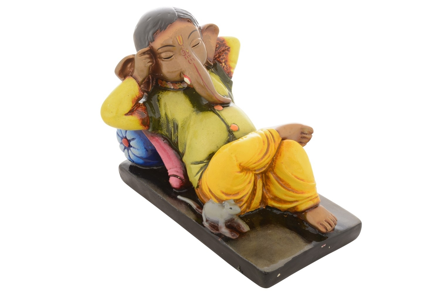 Premium Figurine of Resting Lord Ganesha Indian Home Decor