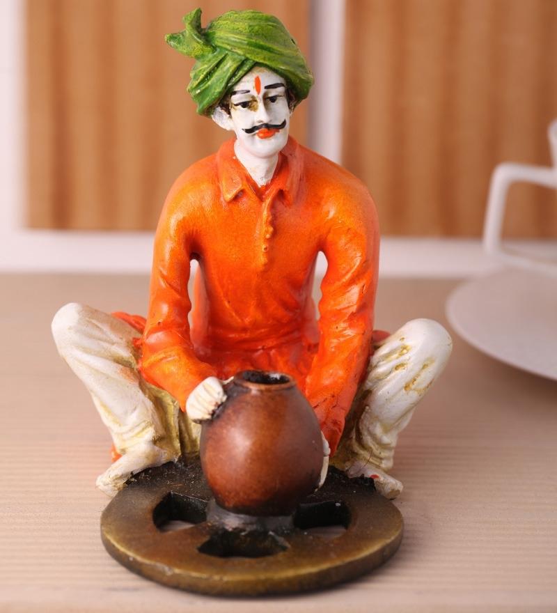 Rajasthani Craftmen Statue making Pot Indian Home Decor