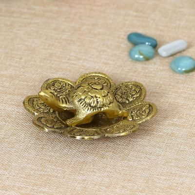Feng Shui Tortoise with decorative plate for offices and home Indian Home Decor