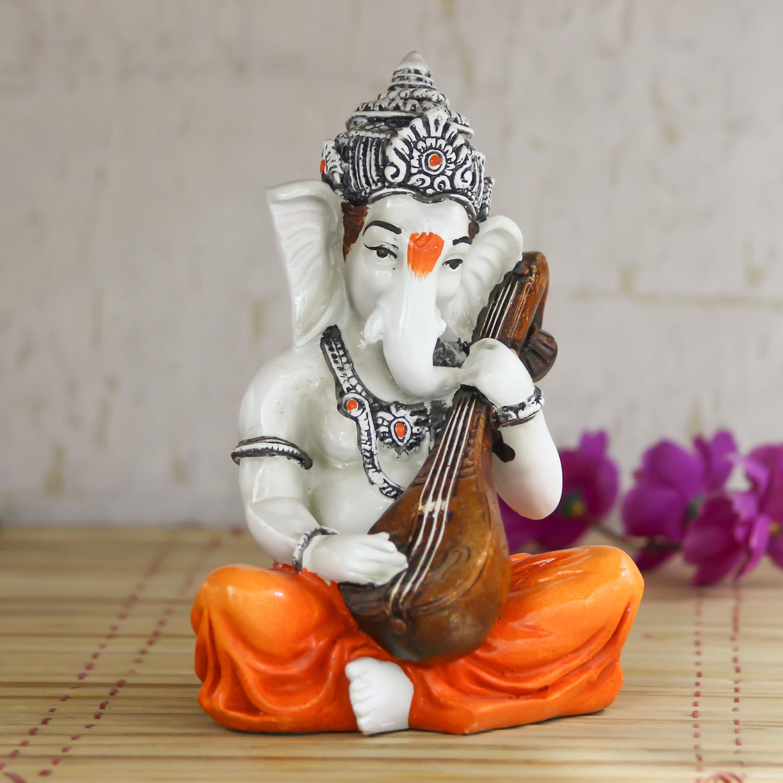 Lord Ganesha playing Guitar Decorative Showpiece Indian Home Decor