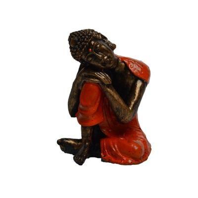 Polyresin Meditating Lord Buddha - Green Indian Home Decor