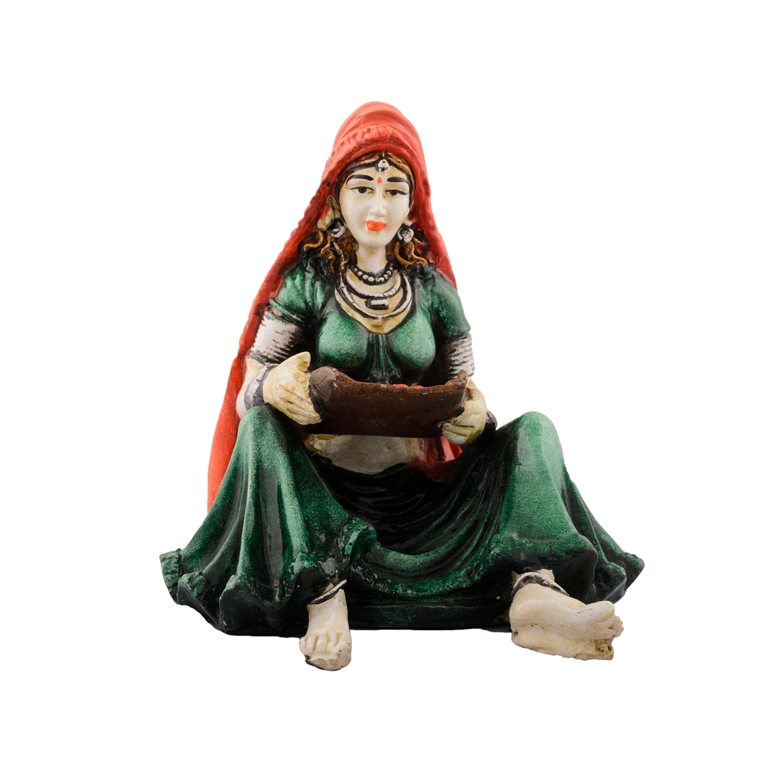 Polyresin Rajasthani Lady Showpiece Indian Home Decor