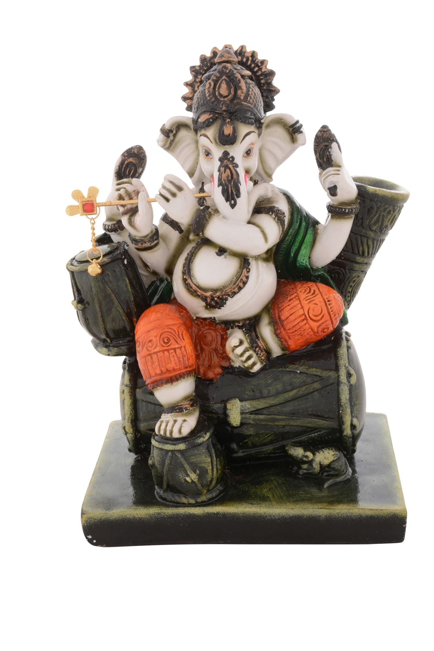 Premium Figurine of Blessing Chaturbhuj Lord Ganesha Indian Home Decor