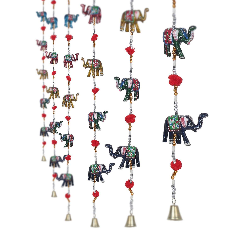 Rajasthani Elephant Door Hanging Home Decor- Set of 2  Indian Home Decor