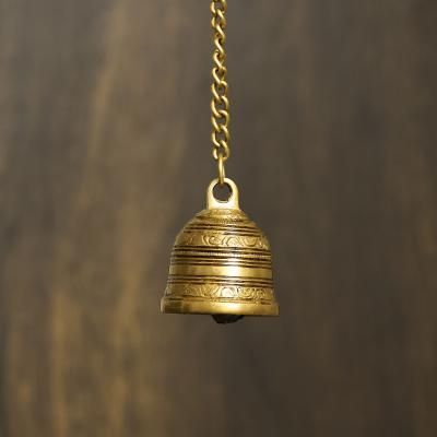 Antique Finish Brass Bell Indian Home Decor