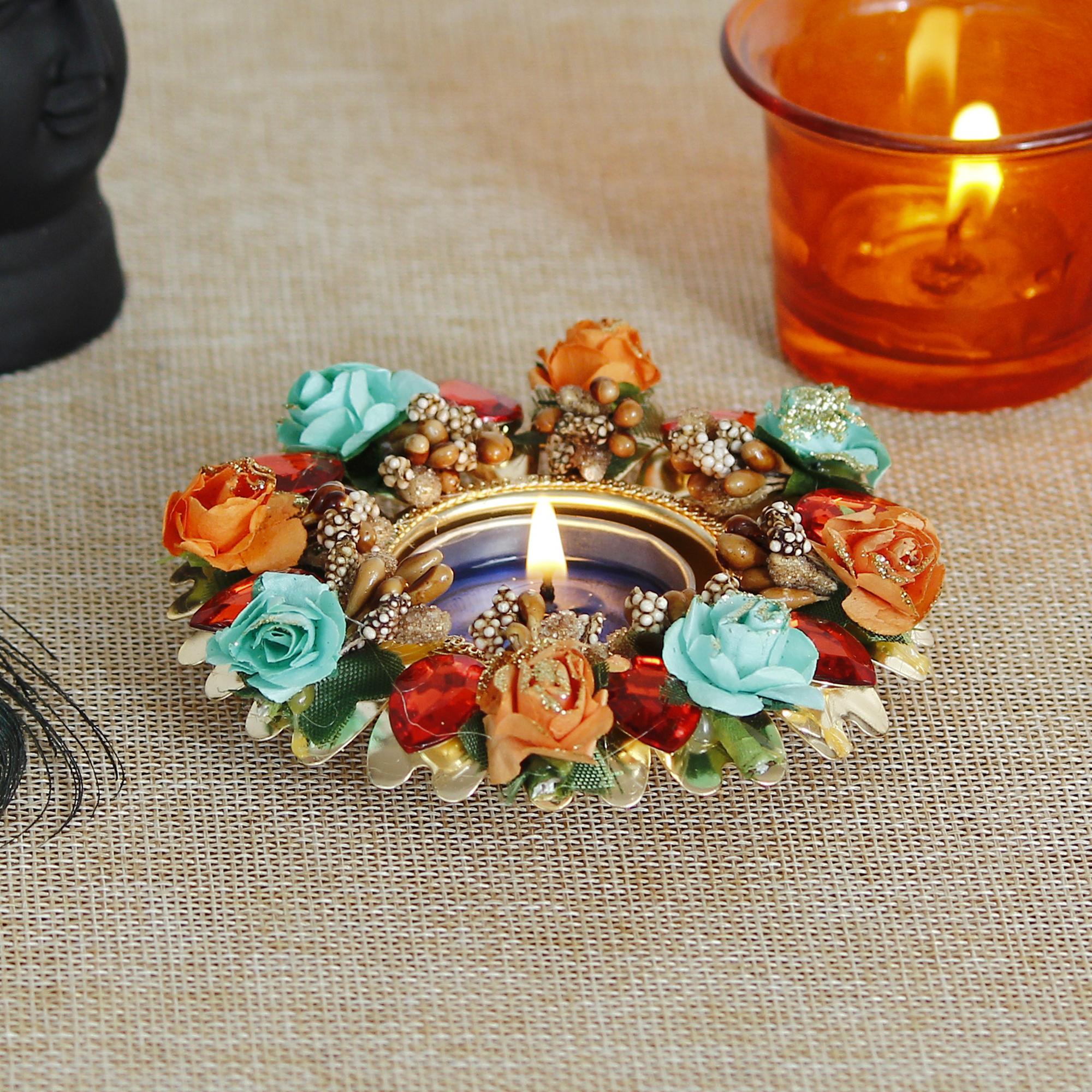 Decorative Handcrafted Stone Work Tea Light Holder Indian Home Decor